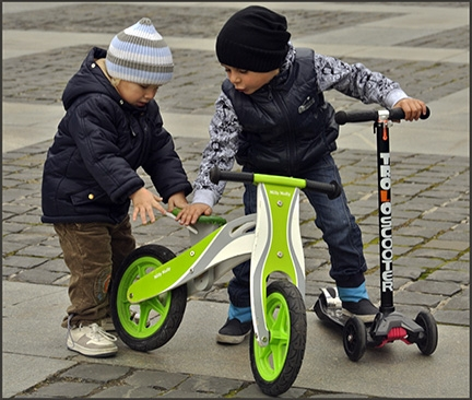 boys with scooter